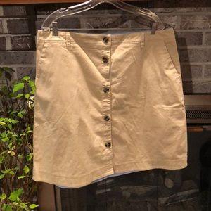 Women's lands end button front skirt sz 18 NWT